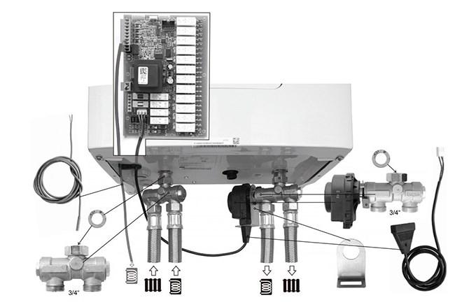 Комплект подключения бойлера (арт.0010027587) косвенного нагрева фото2