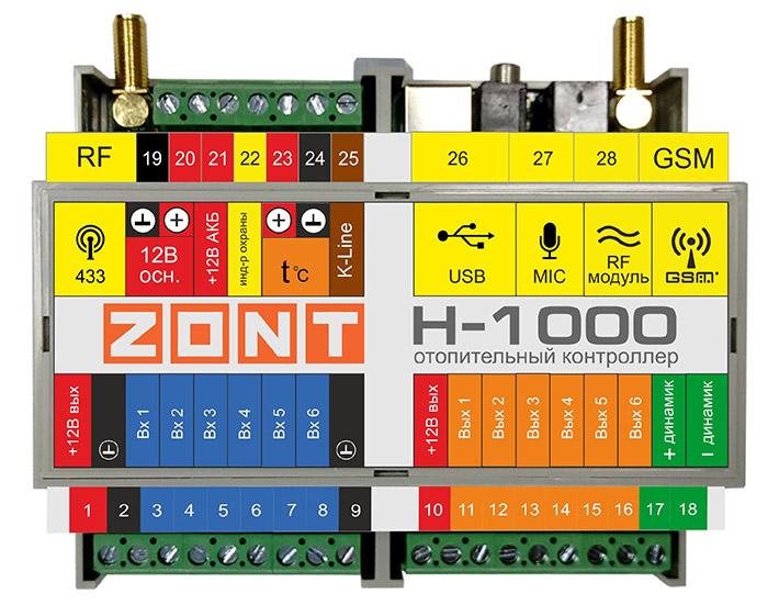 Контроллер отопительный ZONT Н-1000 фото1