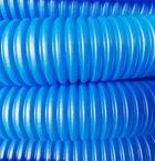 Трубка защитная гофрированная 43мм бухта 50м синяя (Пешель для 32 трубы) AV Engineering