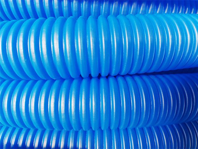 Трубка защитная гофрированная 23мм бухта 50м синяя (для 16 трубы) пешель AV Engineering фото1