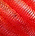Трубка защитная гофрированная 23мм бухта 50м красная (для 16 трубы) Пешель AV Engineering