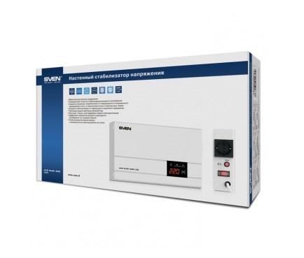 Стабилизатор напряжения SVEN AVR SLIM-500 LCD фото3