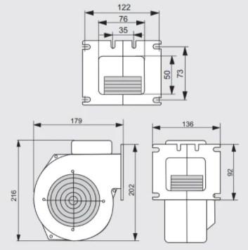 Вентилятор для твердотопливного котла M PLUS M WPA-117 фото4
