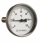 """Термометр биметаллический BITh 63, 0-120С, вкладка 40 мм 1/2"""" аксиальный, AFRISO"""