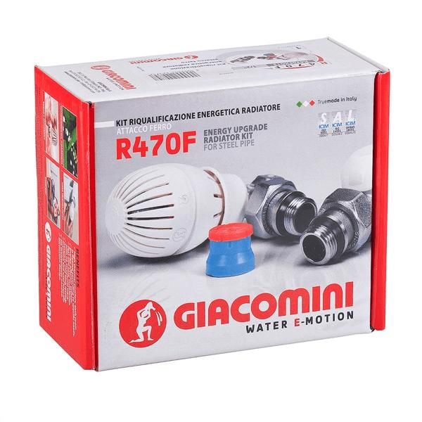 """Термоcтатический комплект радиаторных кранов Giacomini 1/2 """" R470FX023, осевой. фото1"""