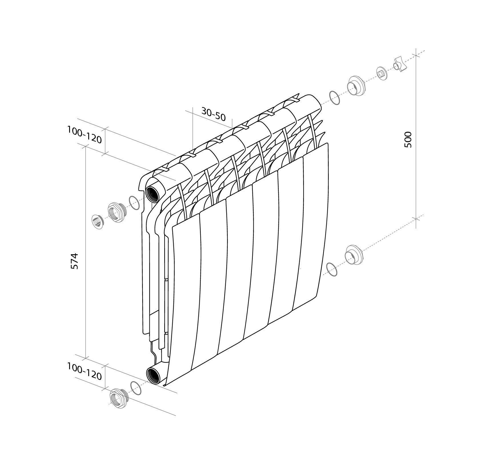Радиатор биметаллический Royal Thermo Biliner 500 фото6