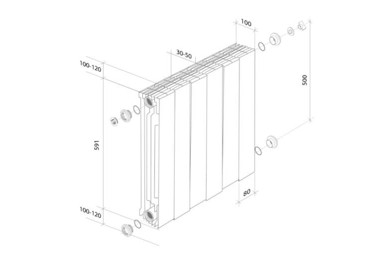 Радиатор биметаллический Royal Thermo PianoForte 500 фото5
