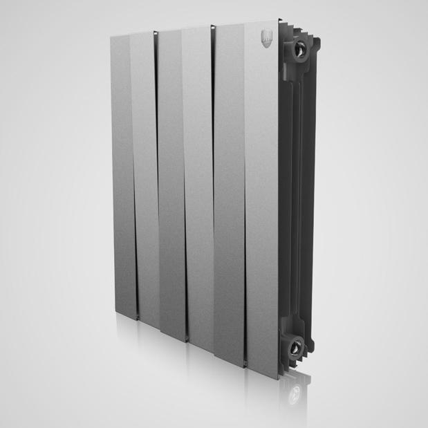 Радиатор биметаллический Royal Thermo PianoForte 500 Silver Satin (серебро) фото1
