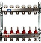 Коллектор из нержавеющей стали с расходомерами STOUT (SMS 0917)