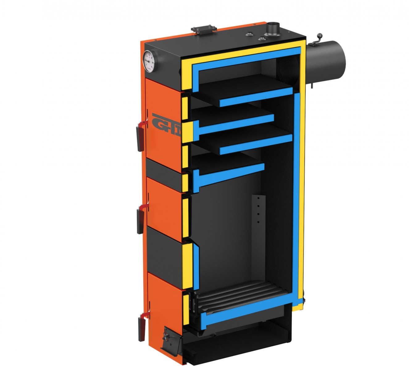 Твердотопливный котел GTM MAX SE 100 kWt фото3