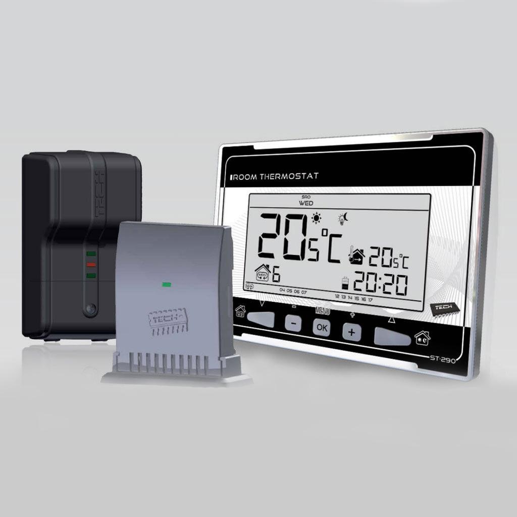Терморегулятор недельный программируемый беспроводной Tech ST 290 V2 фото1