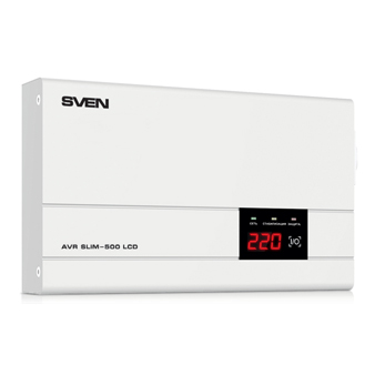 Стабилизатор напряжения SVEN AVR SLIM-500 LCD фото1