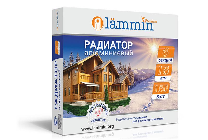 Биметаллический радиатор Lammin Premium BM-500 фото3