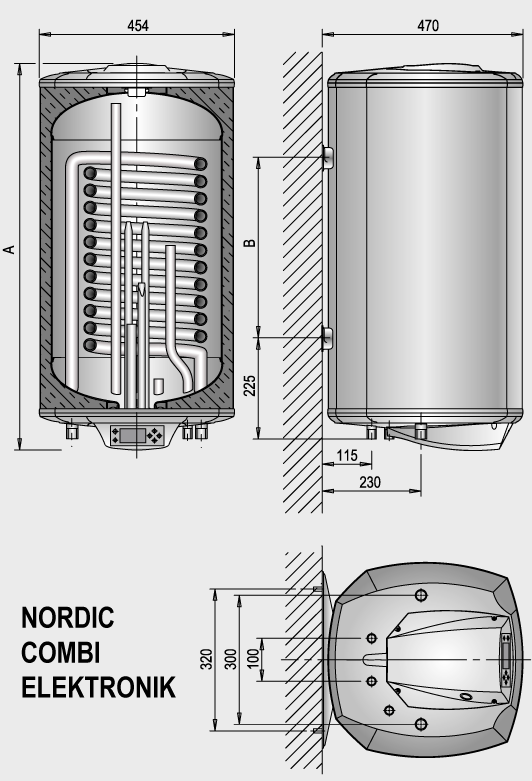 Водонагреватель комбинированный Elektromet Nordic Combi 120 фото2