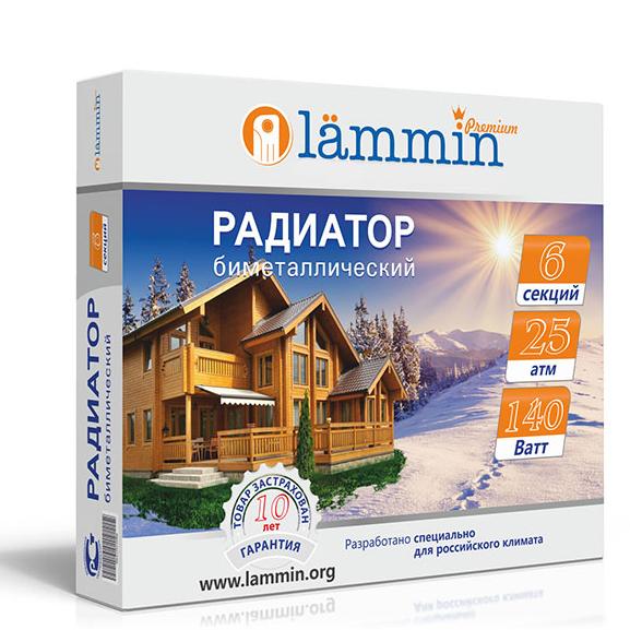 Биметаллический радиатор Lammin Premium BM-350 фото3