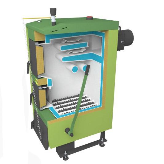 Твердотопливный котел SAS UWG 12 кВт фото2