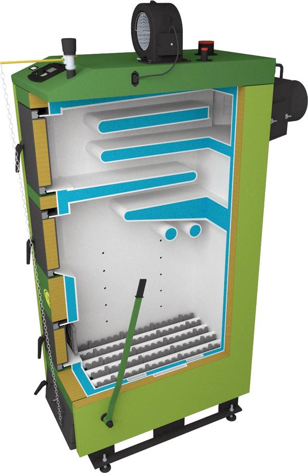 Твердотопливный котел SAS UWT 36 кВт фото2