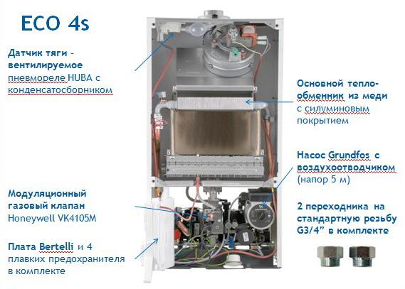 Газовый котел Baxi ECO4S 1.24 F фото2