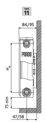 Стальной радиатор Prado Classic Тип 11 500 мм фото3