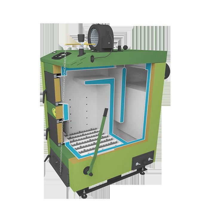 Твердотопливный котел SAS MI 17 кВт фото2
