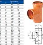 Тройник для наружной канализации НПВХ 110х110х87 (ХЕМКОР)