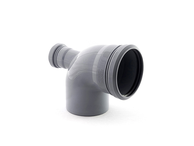 Колено для внутренней канализации  110/50х87 вых.тыл. РосТурПласт (Отвод 110х90 назад 50) фото1