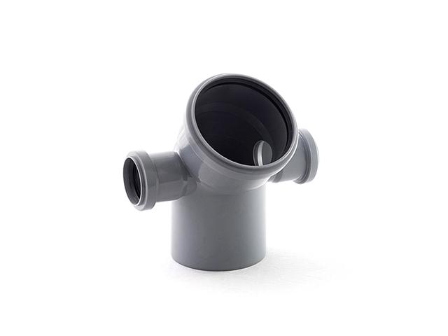 Колено для внутренней канализации 110/50/50х45 левый/правый РосТурПласт (Отвод 110х45 право/лево 50) фото1