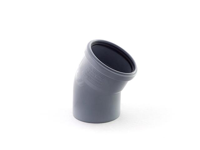 Колено для внутренней канализации 110х15 РосТурПласт (Отвод 110х15) фото1
