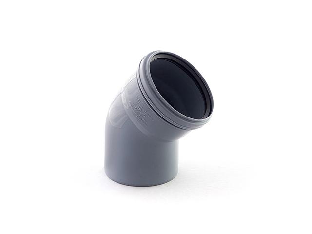 Колено для внутренней канализации 110х45 РосТурПласт (Отвод 110х45) фото1