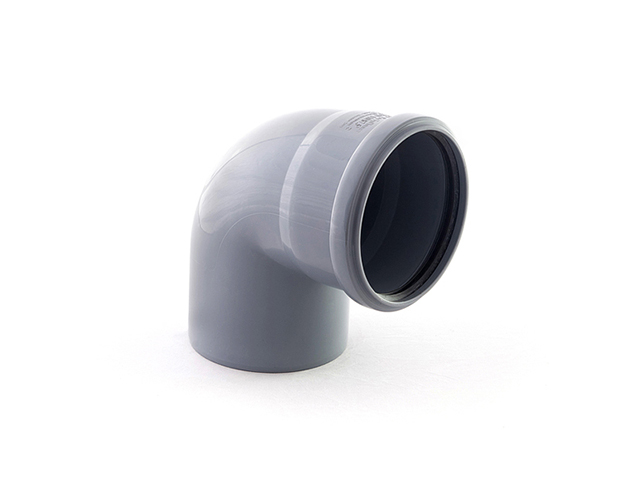 Колено для внутренней канализации 110х87 РосТурПласт (Отвод 110х90) фото1