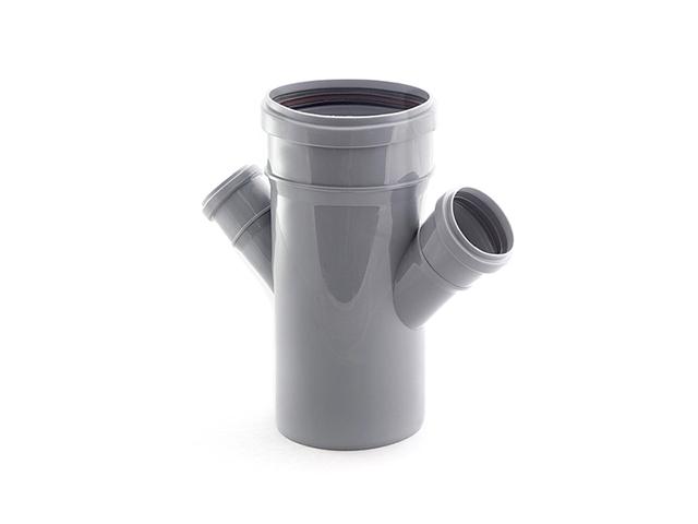 Крестовина для внутренней канализации  110/50/50х45 РосТурПласт (Крестовина 110х50х50х45) фото1
