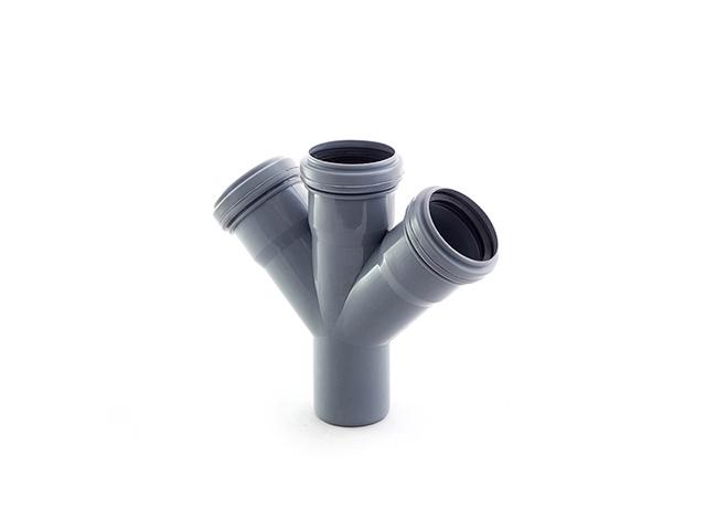 Крестовина для внутренней канализации  50/50/50х45 РосТурПласт (Крестовина 50х50х50х45) фото1