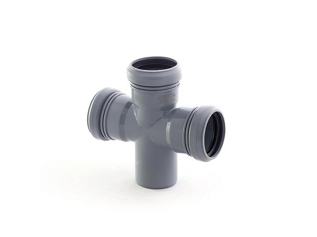 Крестовина для внутренней канализации  50/50/50х87 РосТурПласт (Крестовина 50х50х50х90) фото1