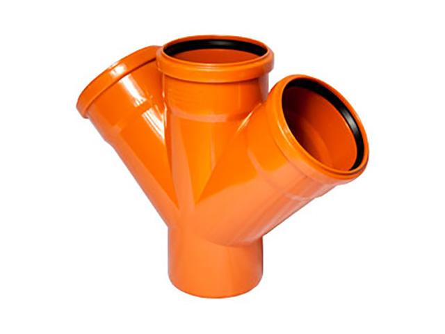 Крестовина для наружной канализации 110/110/110 х45 РосТурПласт (Крестовина нар. 110х110х110х45) фото1