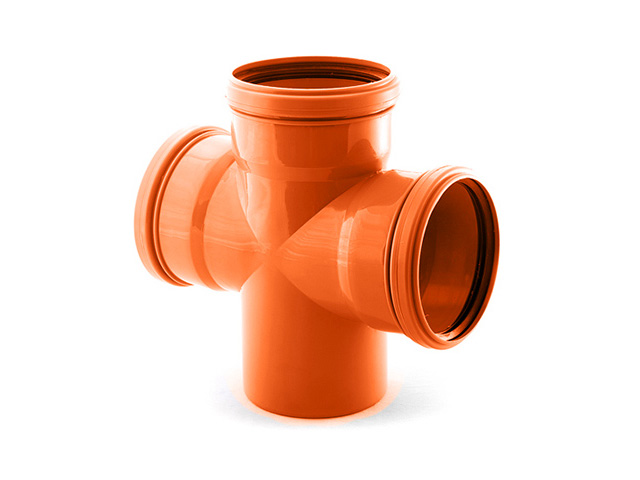 Крестовина для наружной канализации 110/110/110 х87 РосТурПласт (Крестовина нар. 110х110х110х90) фото1