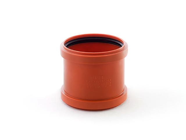 Муфта для наружной канализации 110 РосТурПласт (Муфта служит для соединения канализационных труб, не имеющих раструба.) фото1