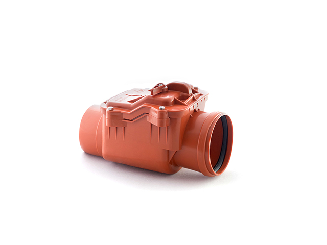 Обратный клапан для наружной канализации 110 РосТурПласт (Клапан обратный 110, гарантия 5 лет) фото1