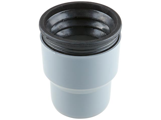 Переход на чугун для внутренней канализации в комплекте с манжеткой 110/124 РосТурПласт (Переход с чугуна на пластик 124х110 с манжетой.) фото1