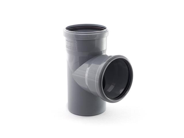 Тройник для внутренней канализации 110/110х87 РосТурПласт (Тройник 110х110х90) фото1