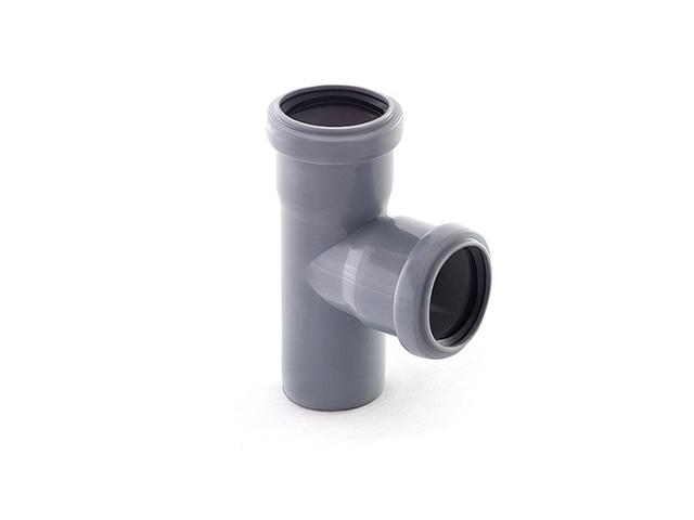 Тройник для внутренней канализации 40/40х87 РосТурПласт (Тройник 40х40х90) фото1