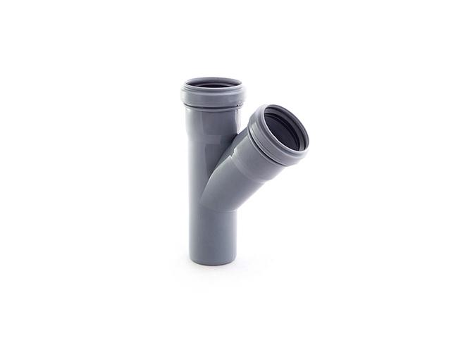 Тройник для внутренней канализации 50/50х45 РосТурПласт (Тройник 50х50х45) фото1