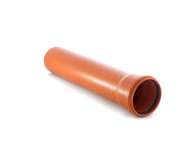 Труба канализационная наружная 110х1000мм. РосТурПласт (труба нар. 110х1000) фото1