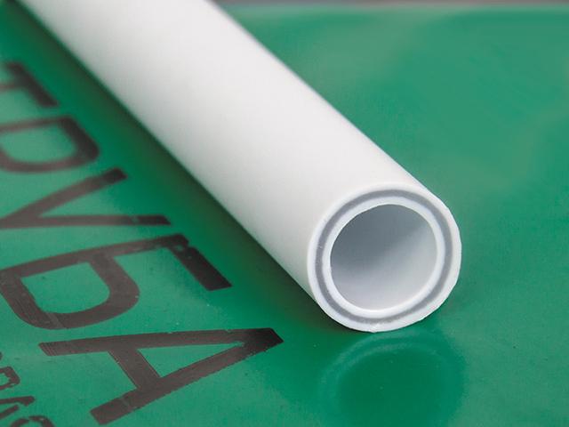 Труба ПП белая армированная стекловолокном 25х3,5 PN20 4 метра РосТурПласт фото1