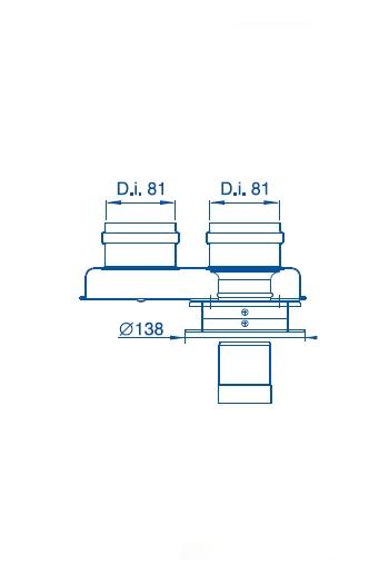 Адаптер для раздельного дымоудаления Bosch AZ 377 фото2
