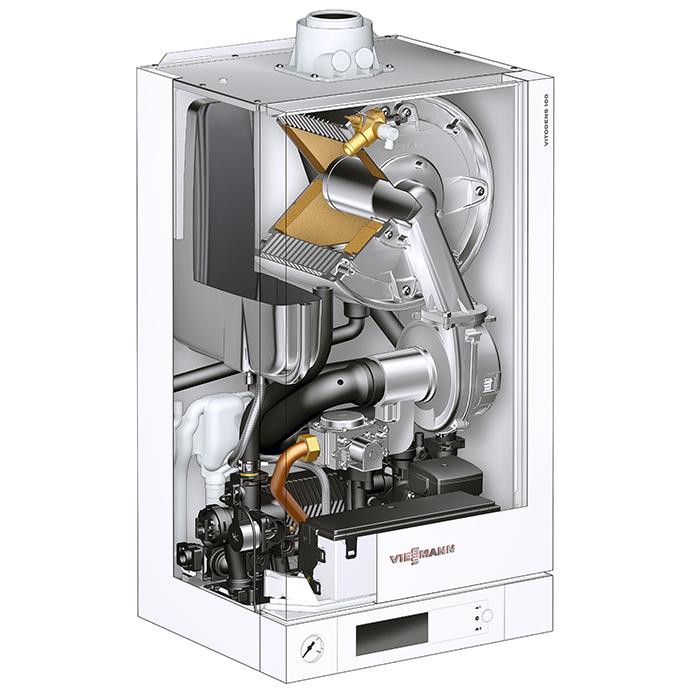 Конденсационный газовый котел Viessmann Vitodens 100-W 2-контурный фото2