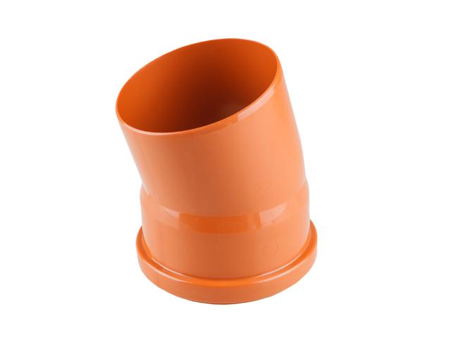 Колено для наружной канализации 110х15 РосТурПласт (Отвод нар.110х15) фото1