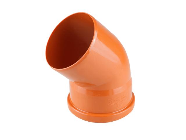 Колено для наружной канализации 110х45 РосТурПласт (Отвод нар.110х45) фото1