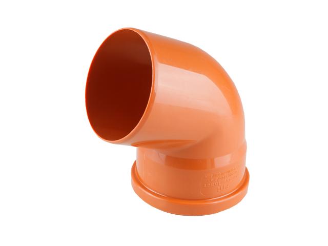 Колено для наружной канализации 110х67 РосТурПласт (Отвод нар.110х67,5) фото1