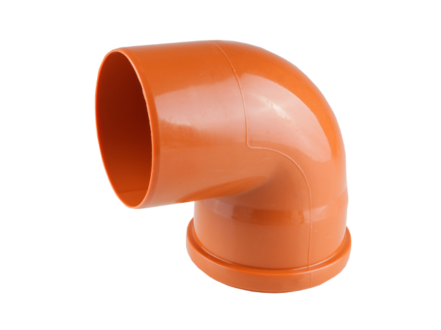 Колено для наружной канализации 110х87 РосТурПласт (Отвод нар.110х90) фото1