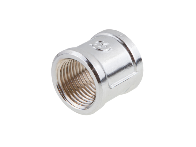 "Муфта вн.-вн. 1/2"" ХРОМ General Fittings фото1"